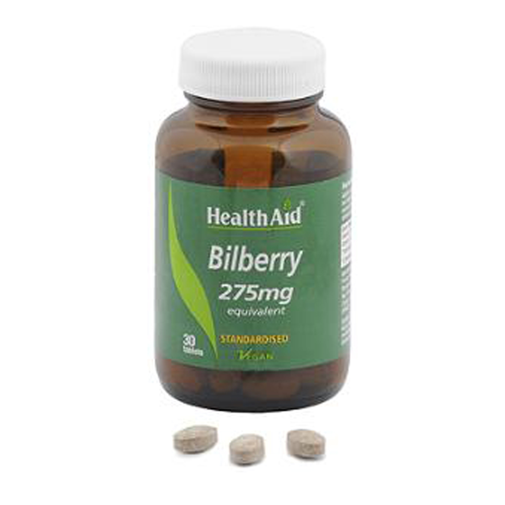 HEALTHAID BILBERRY 275MG TABLET