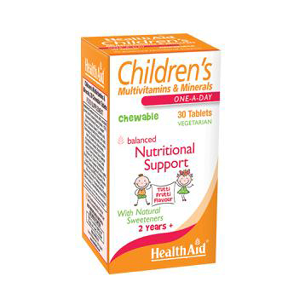 HEALTHAID CHILDREN'S MULTIVITAMINS & MINERALS  30 TABLET
