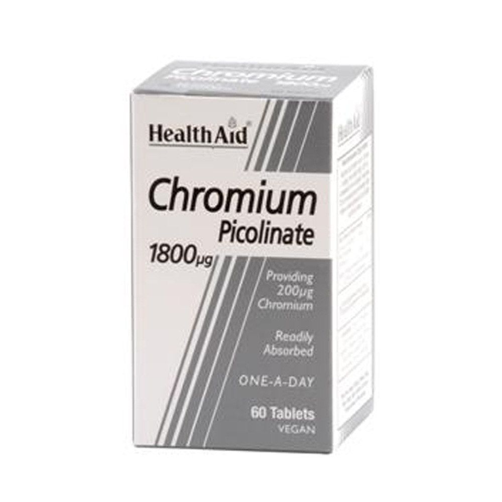 HEALTHAID CHROMIUM PICOLINATE 1800MCG TABLET