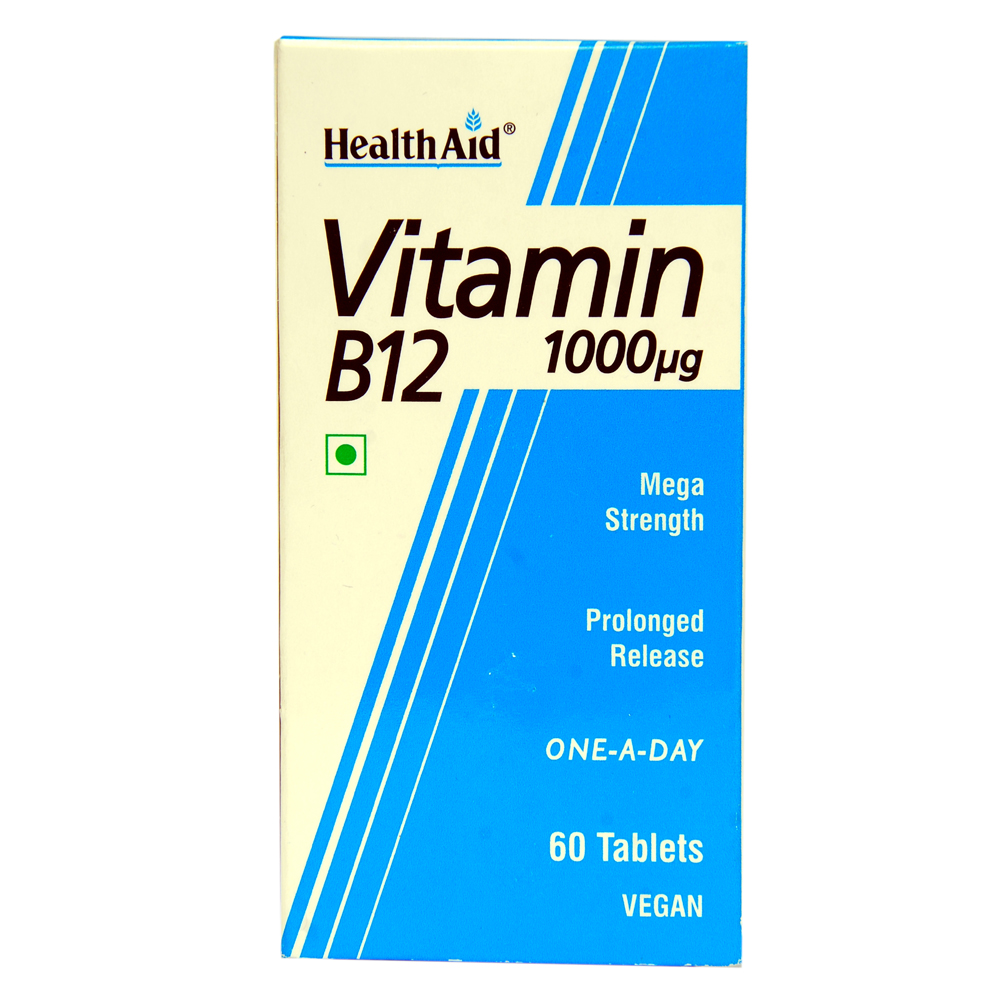 HEALTHAID VITAMIN B12 1000MCG TABLET