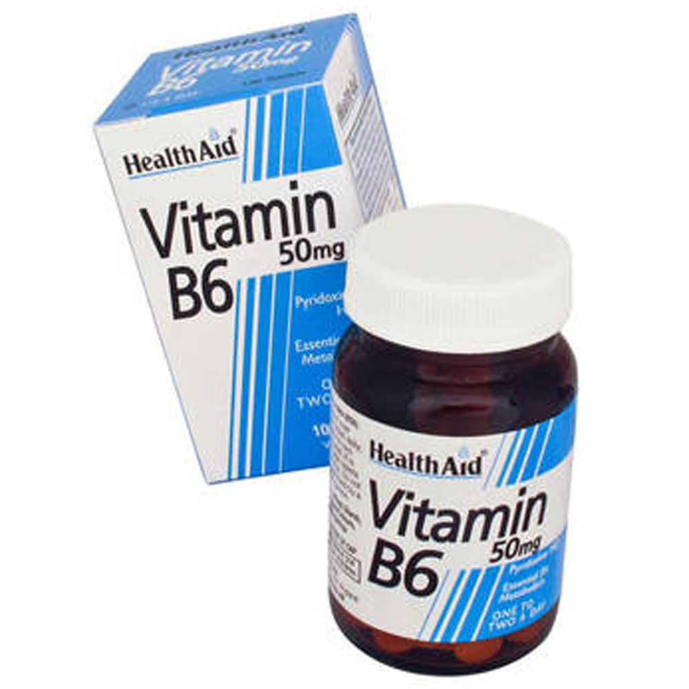 HEALTHAID VITAMIN B6 50MG TABLET