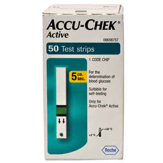 ACCU CHEK ACTIVE STRIPS 50's