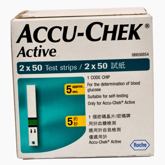 ACCU CHEK ACTIVE STRIPS 100's
