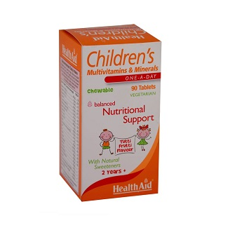 HEALTHAID CHILDREN'S MULTIVITAMINS & MINERALS 90 TABLETS
