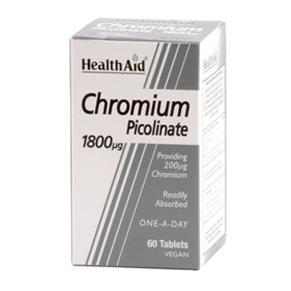 HEALTHAID CHROMIUM PICOLINATE 200MCG TABLET