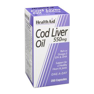 HEALTHAID COD LIVER OIL 550MG CAPSULE 250's