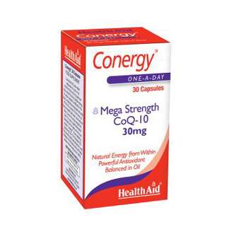 HEALTHAID CONERGY MEGA STRENGTH CoQ-10 30 MG CAPSULE