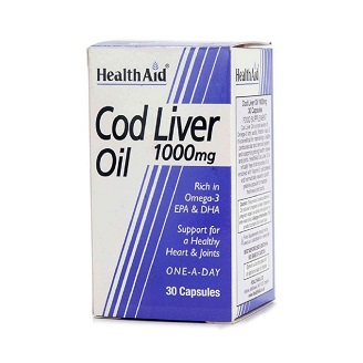 HEALTHAID COD LIVER OIL 1000MG CAPSULE 30's