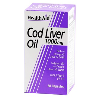 HEALTHAID COD LIVER OIL 1000MG CAPSULE 60's