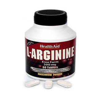 HEALTHAID L-ARGNINE FREE FORM 500 MG TABLET