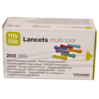 MYLIFE STERILE DISPOSABLE LANCETS MULTICOLOR