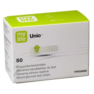 MYLIFE UNIO BLOOD GLUCOSE TEST STRIPS (50/PACK)