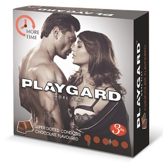PLAYGARD MORE PLAY SUPER DOTTED CONDOMS CHOCOLATE 3'S