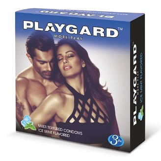 PLAYGARD MORE PLAY MULTI TEXTURED CONDOMS ICE MINT 3'S