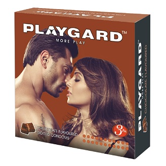 PLAYGARD MORE PLAY DOTTED CONDOMS CHOCOLATE 3'S