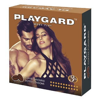 PLAYGARD MORE PLAY DOTTED CONDOMS COFFEE 3'S