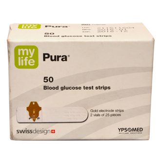 MYLIFE PURA BLOOD GLUCOSE TEST STRIPS (50/PACK)