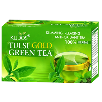 TULSI GOLD GREEN TEA PLAIN 25 TEA BAGS