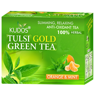 TULSI GOLD GREEN  12 TEA BAGS (ORANGE & MINT)